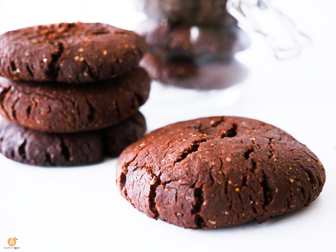 Double Chocolate Shortbread Christmas Cookies