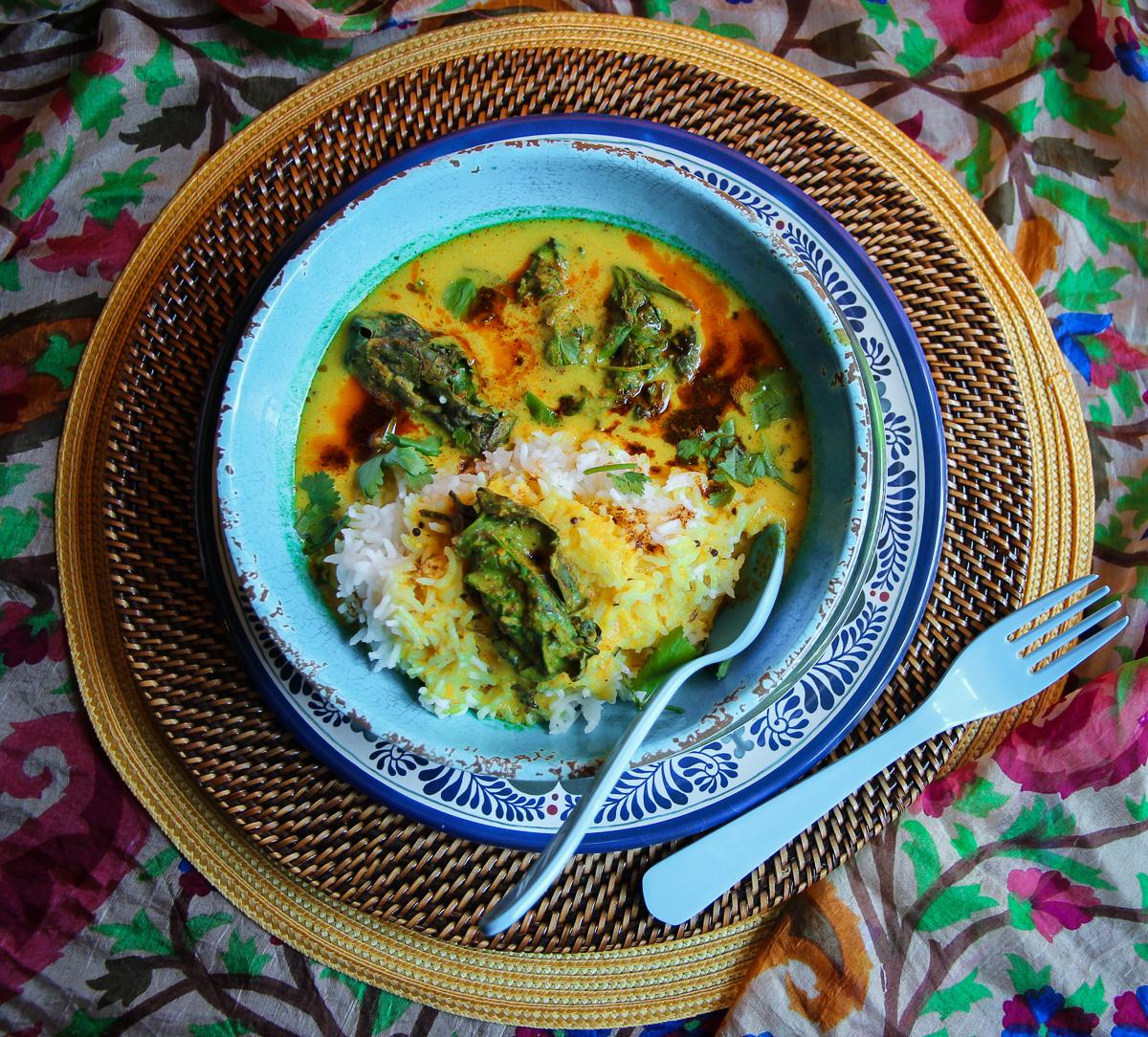 Kadhi Chawal homemade