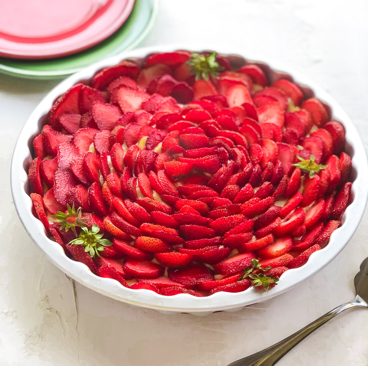 strawberry custard tart recipe