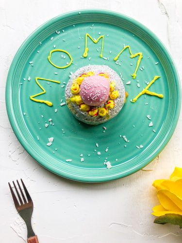 chia pudding with coconut milk-mother's day